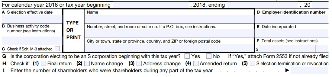 how to prepare an s corporation tax return header